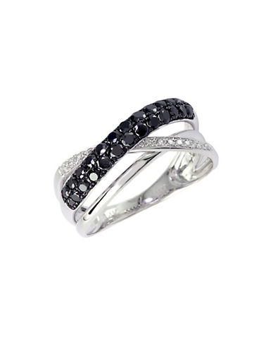 Effy 14K White Gold  White And Black 0.59ct Diamond Ring-DIAMOND-7