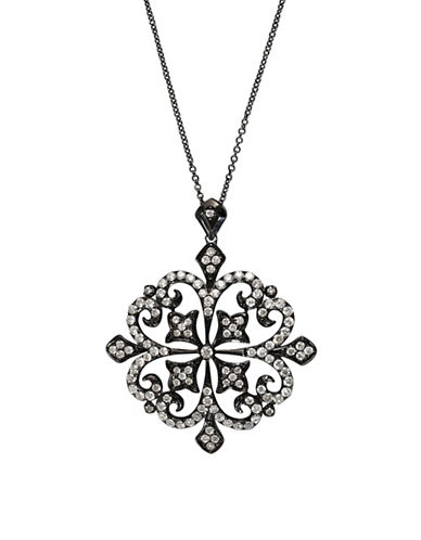 Effy Black Rhodium Finish 14k White Gold Pendant Necklace with 1.31 TCW Diamonds-BLACK-One Size