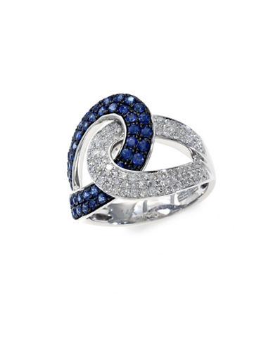 Effy 14K White Gold Diamond and Sapphire Ring-SAPPHIRE-7