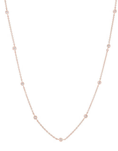 Effy 0.86 TCW Diamond 14K Rose Gold Necklace-ROSE GOLD-One Size