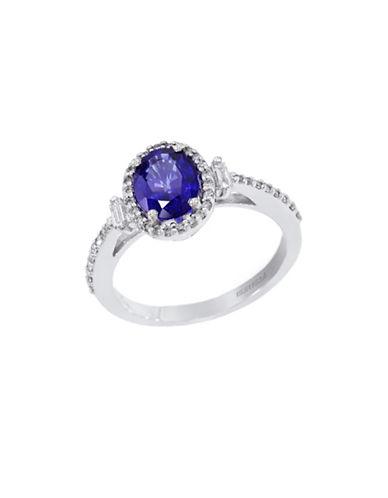 Effy 14K White Gold Diamond Natural Diffused Ceylon Sapphire Ring-SAPPHIRE-7