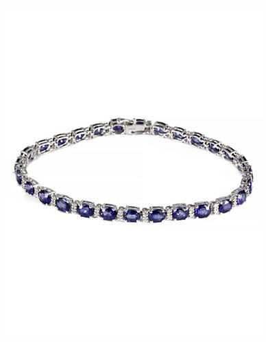 Effy 14K White Gold Diamond and Ceylon Sapphire Bracelet-SAPPHIRE-One Size