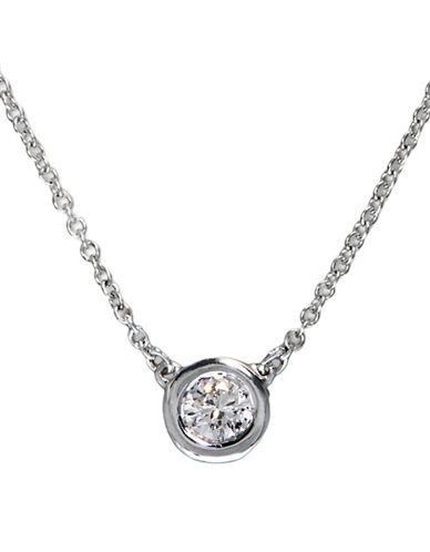 Effy 0.2TCW Diamond 14K White Gold Necklace-DIAMOND-One Size