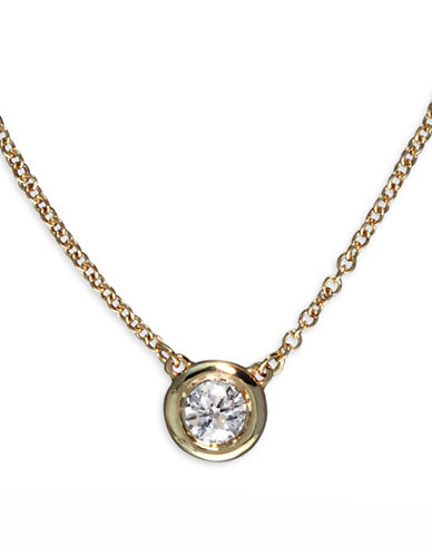 Effy 0.2TCW Diamond 14K Yellow Gold Necklace-DIAMOND-One Size