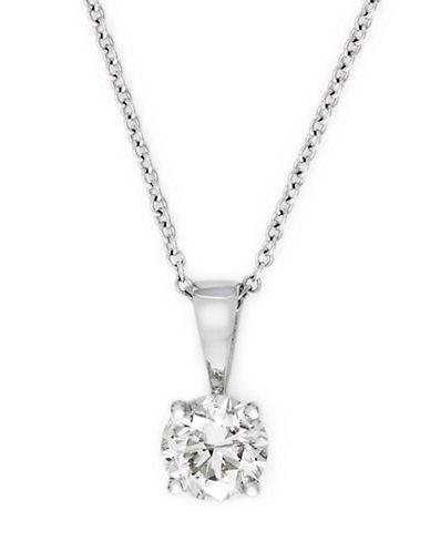 Effy 18K White Gold 0.50ct Diamond Pendant-DIAMOND-One Size