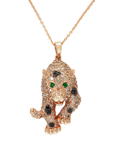 Effy 14K Rose Gold Diamond and Black Diamond And Emerald Pendant-EMERALD-One Size