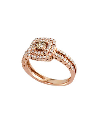 Effy 14K Rose Gold and 0.74TCW Espresso Diamond Ring-ROSE GOLD-7