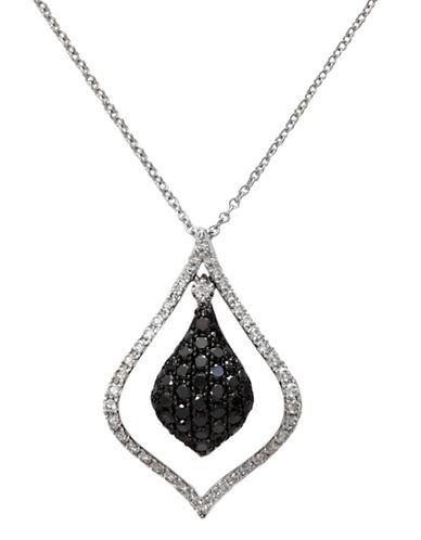 Effy 14k White Gold Diamond Black Diamond  Pendant-DIAMOND-One Size