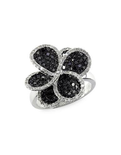 Effy 1.43 TCW Two-Tone Diamond, 14K White Gold Ring-TWO-TONE-One Size