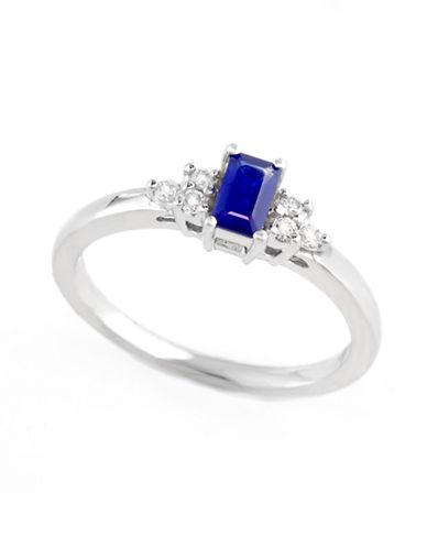 Effy 14K White Gold Diamond Sapphire Ring-SAPPHIRE-7