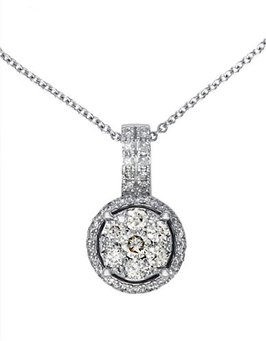 Effy 14K White Gold Diamond Pendant-DIAMOND-One Size