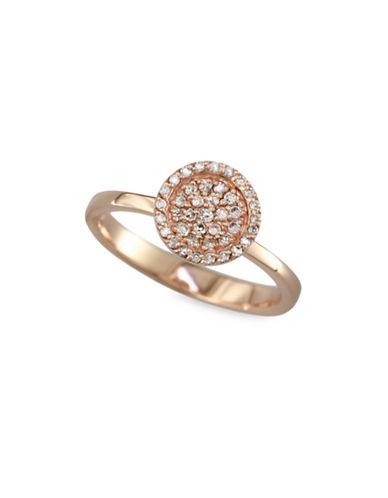 Effy 0.22 TCW Diamond, 14K Rose Gold Circle Ring-ROSE GOLD-7