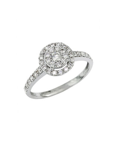 Effy 14K White Gold 0.56 Total Carat Weight  Engagement Diamond Ring-DIAMOND-7