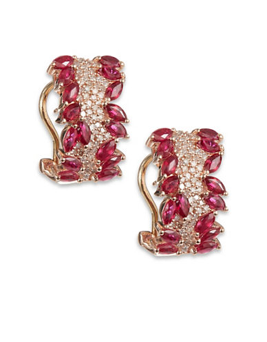 Effy 14k Rose Gold Diamond Ruby Earrings-RUBY-One Size