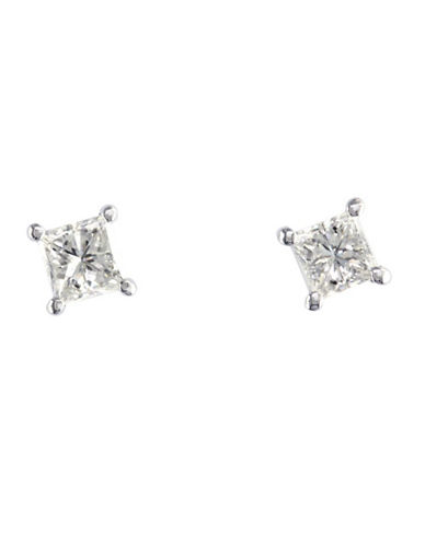 Effy 14k White Gold 0.50 Total Carat Weight Diamond Earrings-DIAMOND-One Size