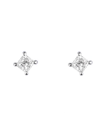 Effy 14K White Gold 0.33ct Diamond Earrings-DIAMOND-One Size