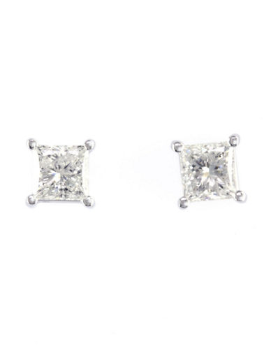 Effy 14K White Gold 1.00ct Diamond Earrings-DIAMOND-One Size