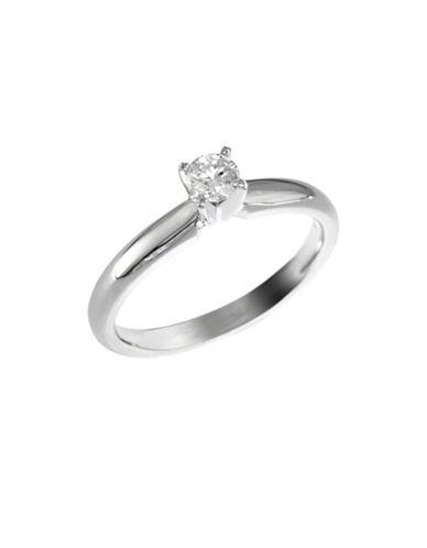 Effy 14K White Gold 0.20ct Diamond Engagement Ring-DIAMOND-7