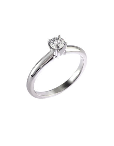 Effy 14K White Gold 0.33ct Diamond Engagement Ring-DIAMOND-7