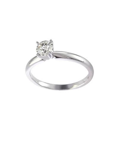 Effy 14K White Gold 0.50ct Diamond Engagement Ring-DIAMOND-7