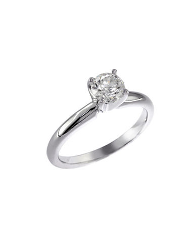 Effy 14K White Gold 0.75ct Diamond Engagement Ring-DIAMOND-7