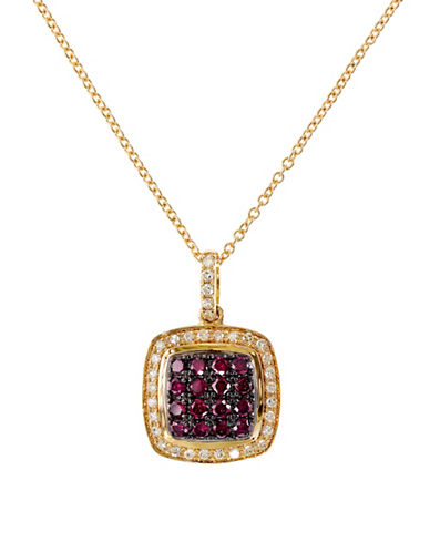 Effy 14K Rose Gold 0.13ct Diamond & 0.37ct Natural Ruby Pendant-RUBY-One Size