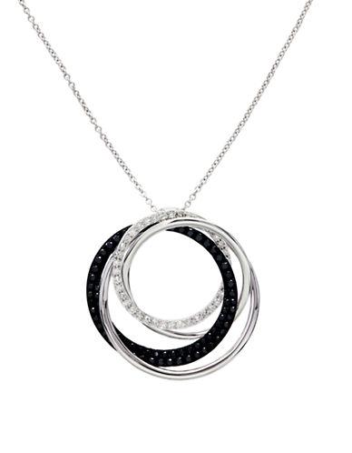 Effy 14K White Gold White And Black Diamond Pendant-WHITE GOLD-One Size
