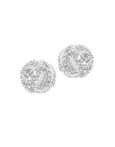 Effy 1.43 TCW Diamond 14K White Gold Stud Earrings-WHITE GOLD-One Size