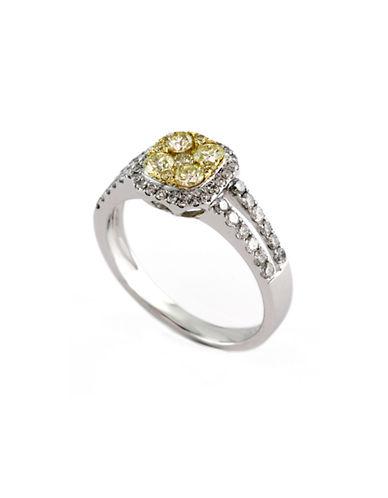 Effy 14K White And Yellow Gold band White And Yellow 1.16ct Diamond Ring-DIAMOND-7