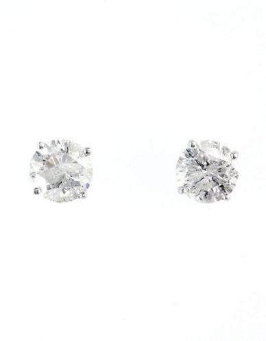 Effy 14K White Gold Diamond Earrings-DIAMOND-One Size