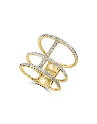 Effy 14K Yellow Gold Ring with 0.57 Total Carat Weight Diamonds-DIAMOND-7