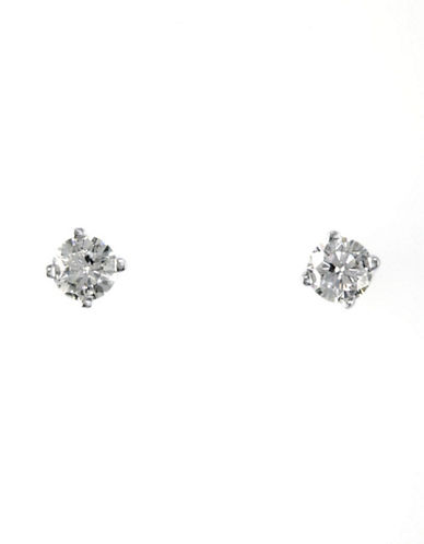 Effy 14K White Gold 0.25ct Diamond Earrings-DIAMOND-One Size
