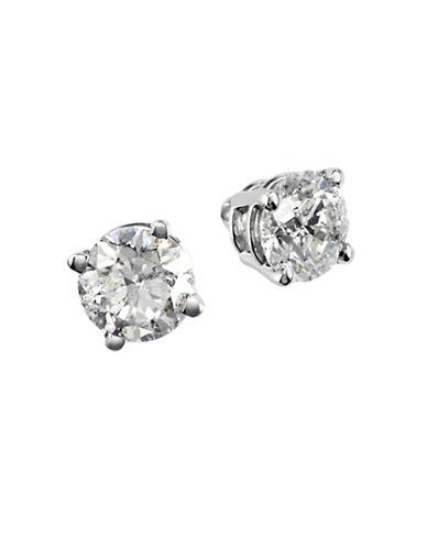 Effy 14K White Gold 0.75ct Diamond Earrings-DIAMOND-One Size