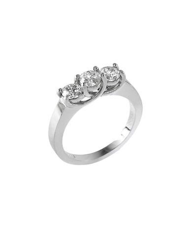 Effy 14K White Gold 1 Total Carat Weight Diamond Engagement Ring-DIAMOND-7