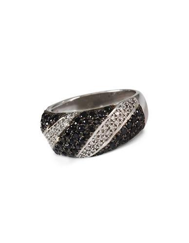 Effy 0.22 TCW Diamond, Black Sapphire, 14K White Gold Ring-BLACK SAPPHIRE-7