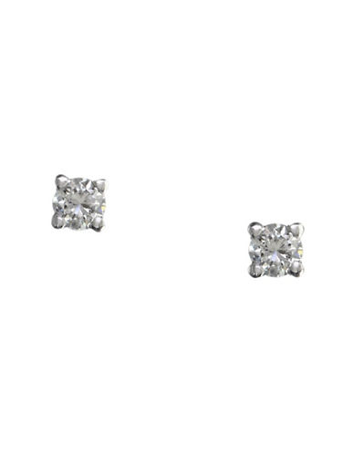 Effy 14K White Gold 0.15ct Diamond Earrings-DIAMOND-One Size