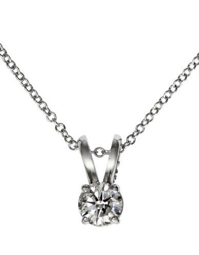 Effy 14K White Gold 0.20ct Diamond Pendant-DIAMOND-One Size