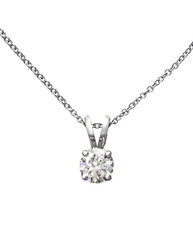 Effy 14K White Gold 0.33ct Diamond Pendant-DIAMOND-One Size