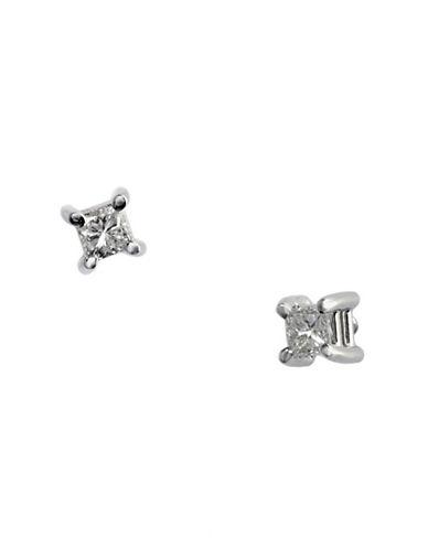 Effy 14K White Gold 0.15ct Diamond Earrings-DIAMOND-One Size