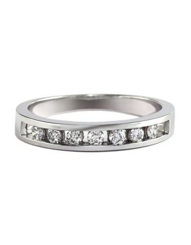 Effy 14K White Gold 0.25 Total Carat Weight Diamond Wedding Band-DIAMOND-7