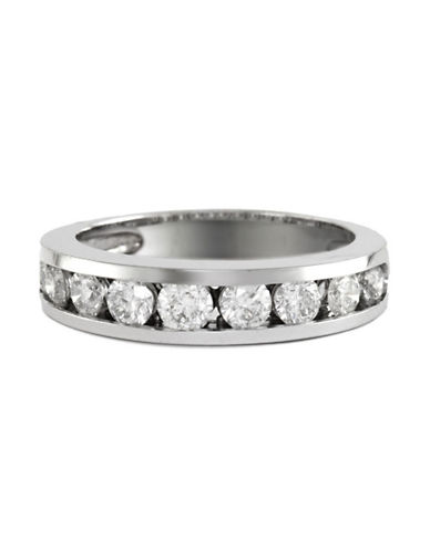 Effy 14K White Gold 1 Total Carat Weight Diamond Wedding Band-DIAMOND-7