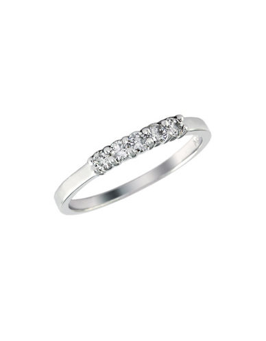 Effy 14K White Gold Diamond Wedding Band-DIAMOND-7