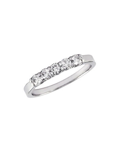 Effy 14K White Gold 0.50ct Diamond Wedding Band-DIAMOND-7