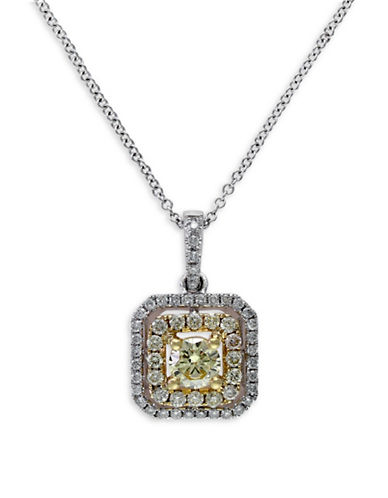 Effy 0.74 TCW Two-Tone Diamond, 14K Two-Tone Gold Pendant Necklace-TWO-TONE-One Size