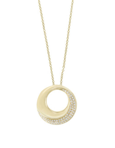 Effy 14K Yellow Gold Circle Pendant Necklace with 0.26 TCW Diamonds-YELLOW GOLD-One Size