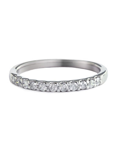 Effy 14K White Gold 0.25ct Diamond Wedding Band-DIAMOND-7