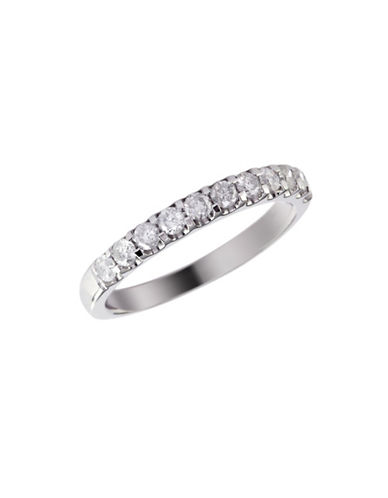 Effy 14K White Gold 0.50ct Diamond Wedding Band-DIAMOND-7