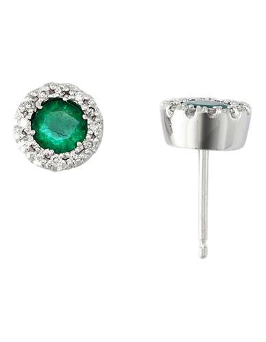 Effy Diamond and Emerald Earrings-EMERALD-One Size