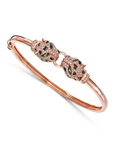 Effy 14K Rose Gold 0.75ct Diamond and Tsavorite Bangle-DIAMOND-One Size