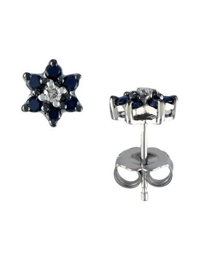 Effy 14K White Gold  Black And White Diamond Earrings-BLACK/WHITE DIAMOND-One Size